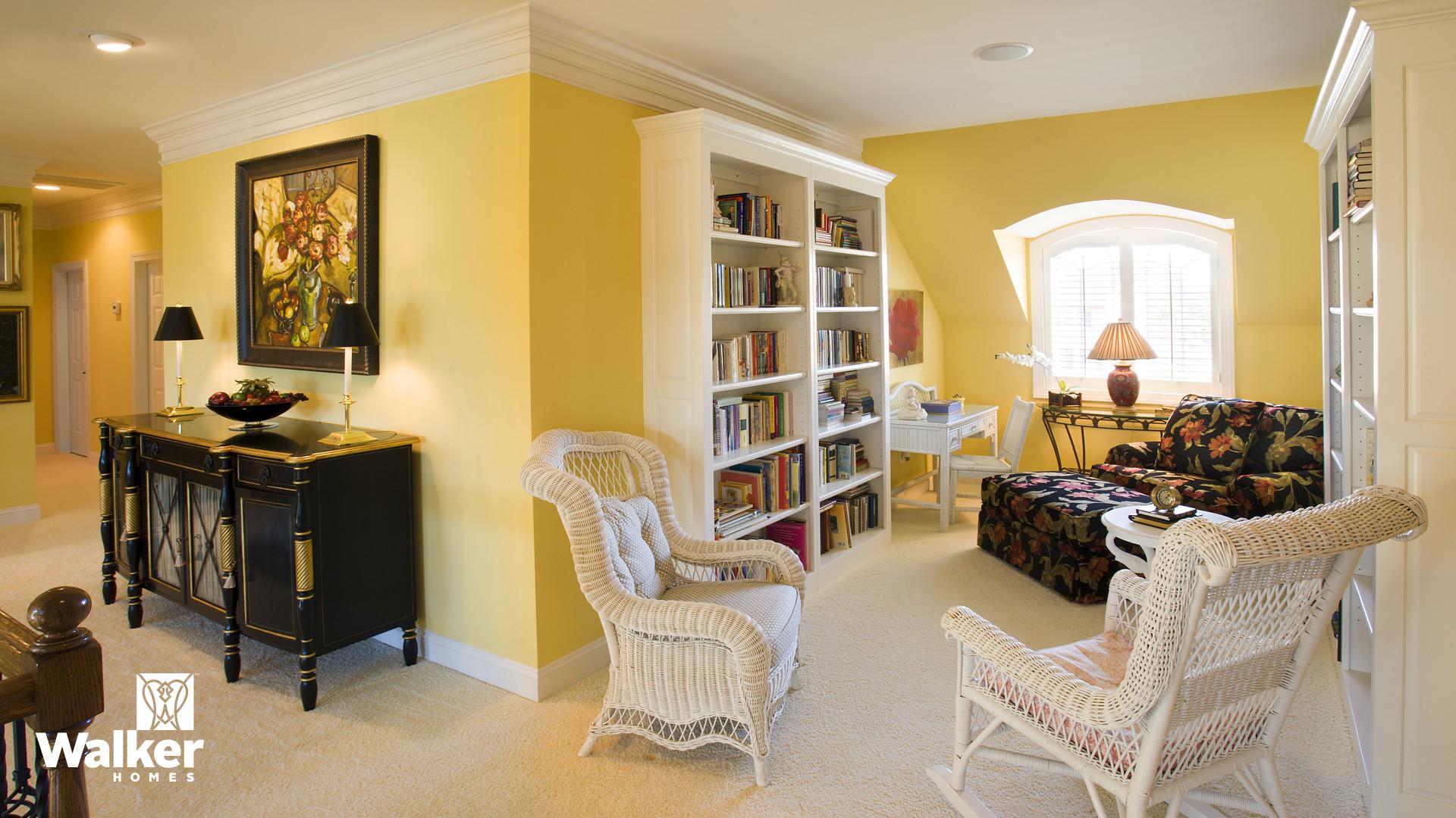 A Reading Nook from a custom home design by Walker Homes in Glen Allen, Virginia