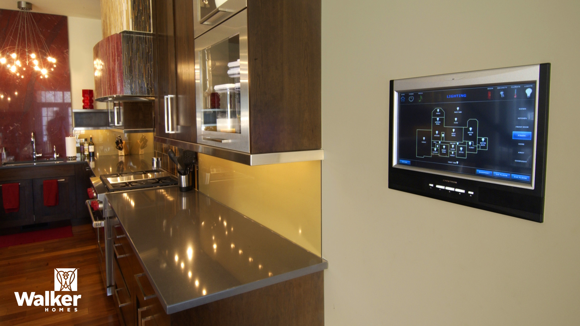 Smart home components from a custom home design by Walker Homes in Glen Allen, Virginia