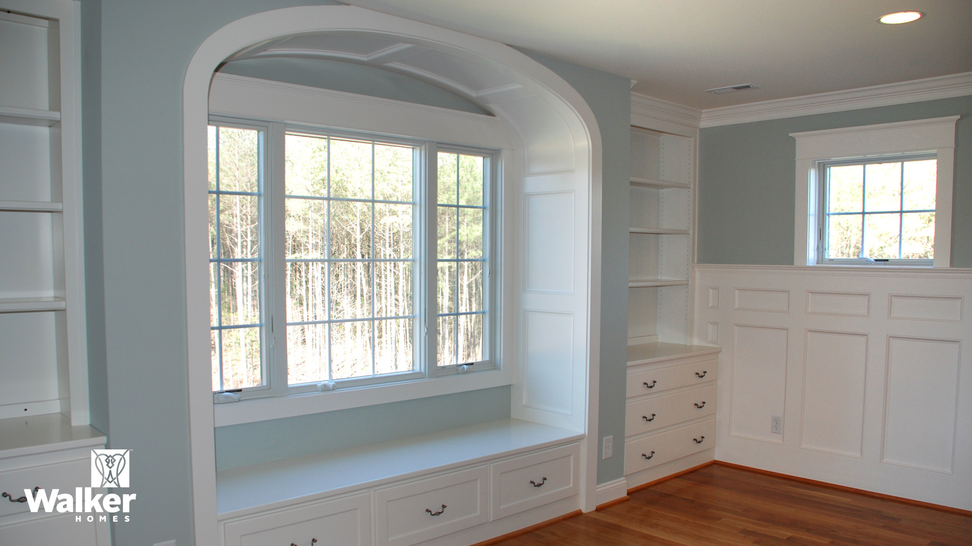 Master Bedroom cabinetry and millwork from a custom home design by Walker Homes in Glen Allen, Virginia