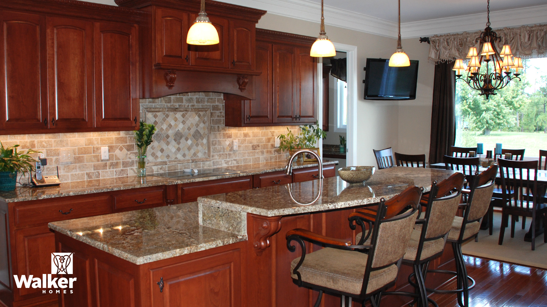 A Kitchen from a custom home design by Walker Homes in Glen Allen, Virginia
