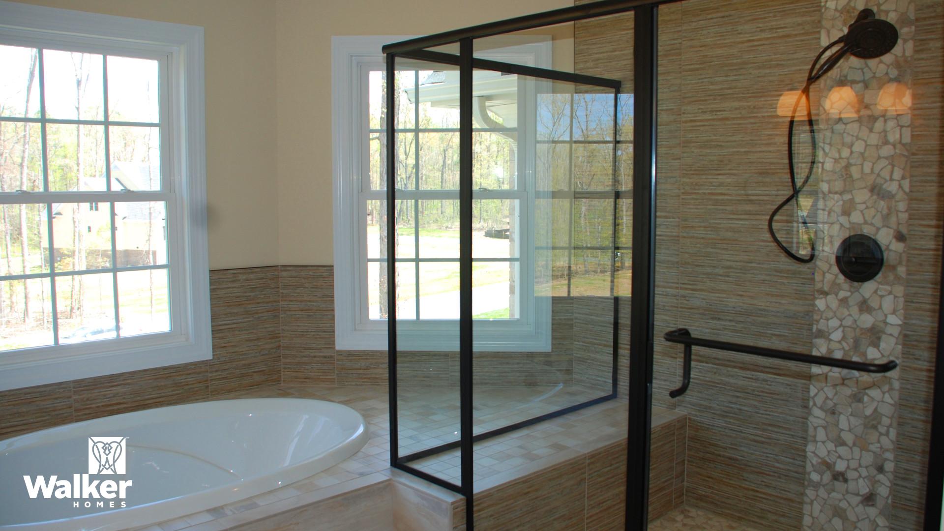 A Master Bath from a custom home design by Walker Homes in Glen Allen, Virginia