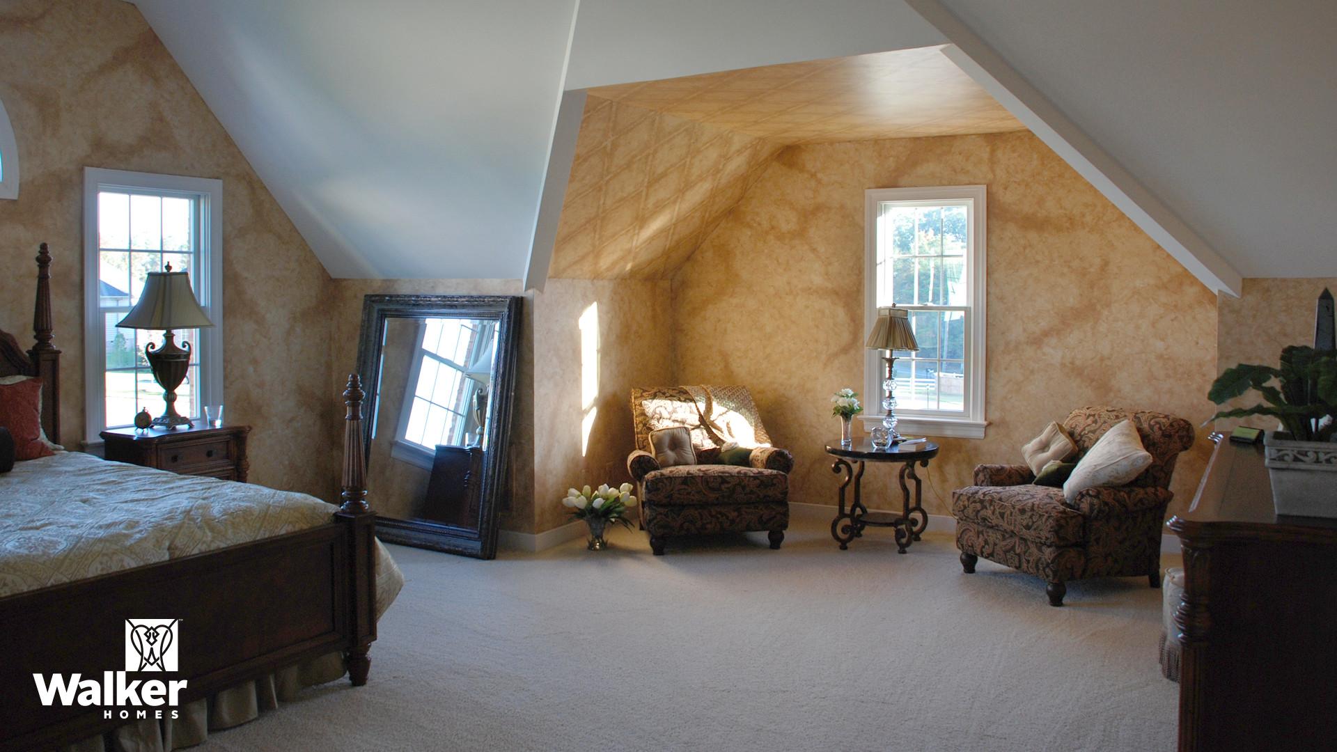 A Master Bedroom from a custom home design by Walker Homes in Glen Allen, Virginia