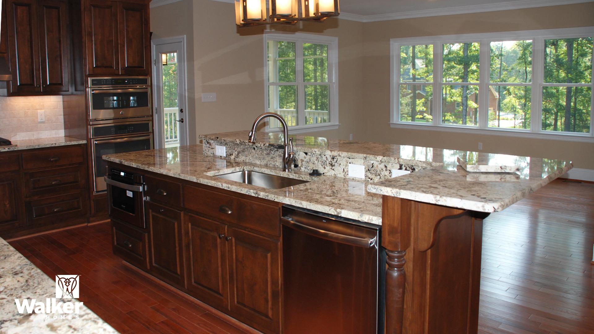 A Kitchen from a custom home design by Walker Homes in Glen Allen, Virginia