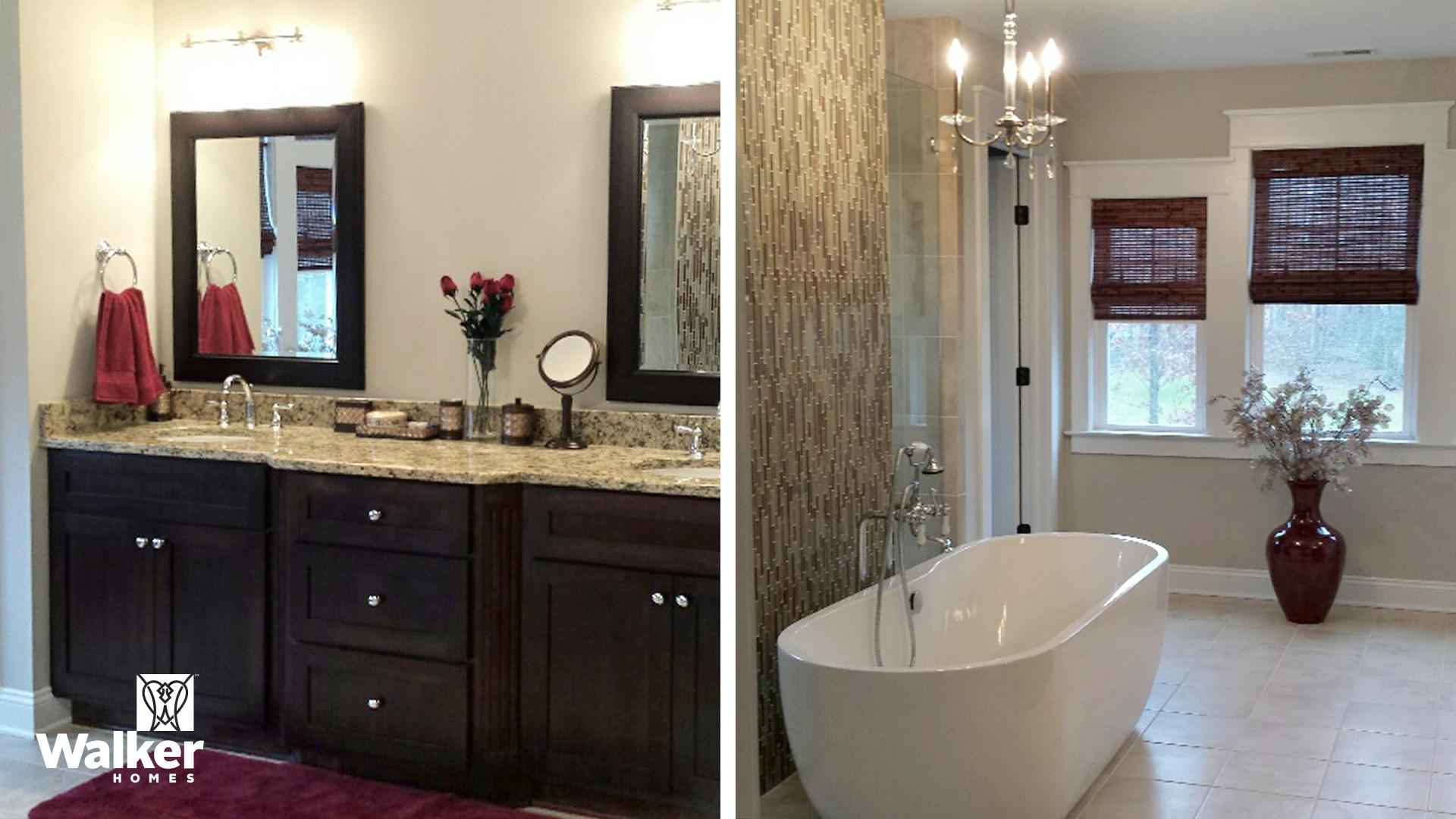 The Winstead II Master Bathroom by Walker Homes in Glen Allen, Virginia