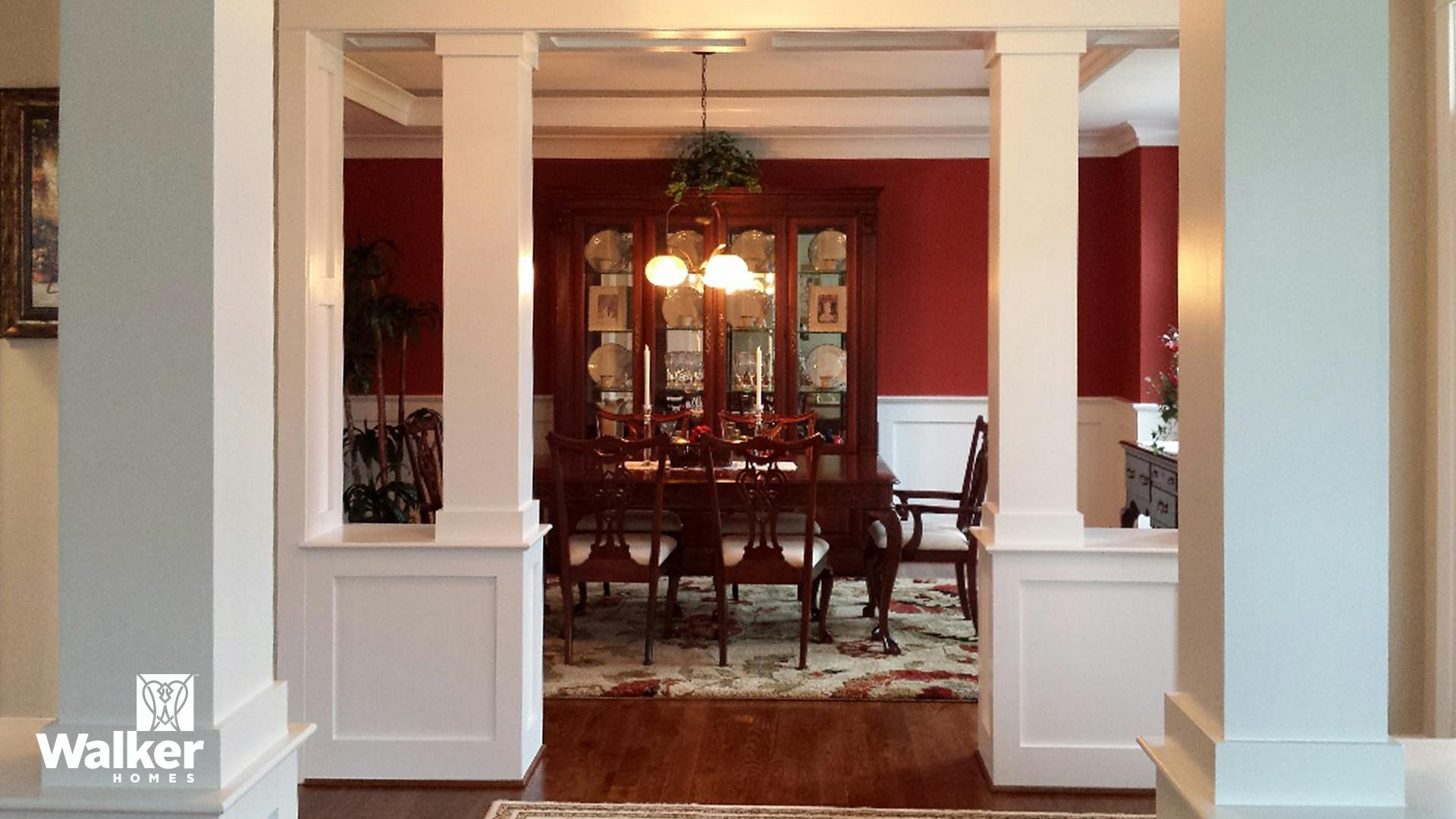 The Winstead II Dining Room by Walker Homes in Glen Allen, Virginia