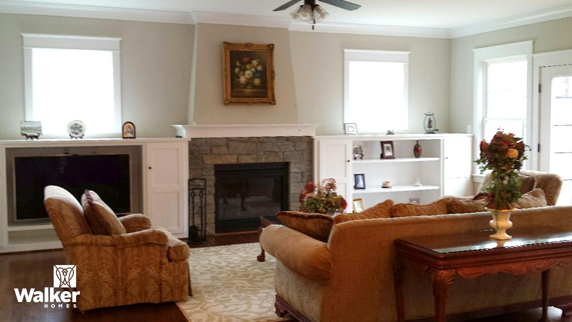 The Winstead II Living Room by Walker Homes in Glen Allen, Virginia