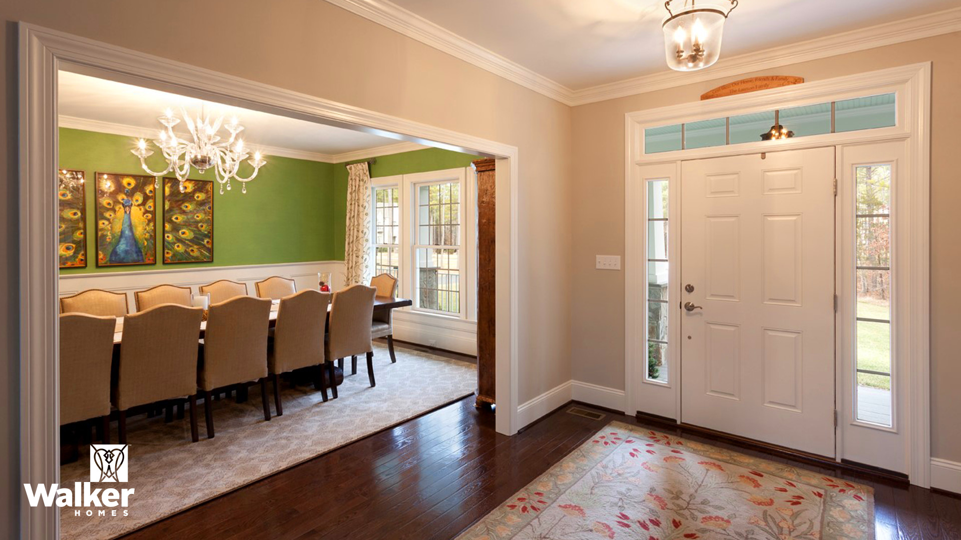 A Dining Room from a custom home design by Walker Homes in Glen Allen, Virginia